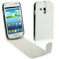 Samsung Galaxy S3 Mini i8190 Case Handytasche Flip Ledertasche Weiss