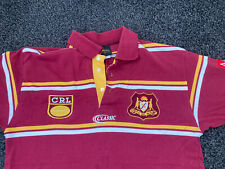 More details for crl country rugby league nsw new south wales mens large polo shirt maroon gold