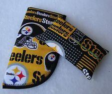 NEW Pittsburg Steelers Mascot Fabric Tissue Holder & Glasses Case Gift Set