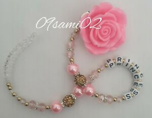 Bling Rose Shamballa & Crystal Romany Dummy Clip Personalised pink/Gold!!❤❤