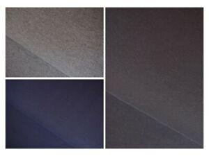 Hochwertiger Sweat Stoff uni schwarz grau-meliert dunkel-blau