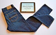 Abercrombie & Fitch Nuovo Jeans Classico Carrera Blu Navy Scuro Da Uomo taglia. W29 L30 NUOVO CON ETICHETTA