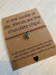 💕Friends Funny Quote Friendship Wish bracelet, Best Friend Gift Present Life 💕