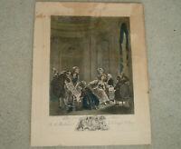 Vintage French Print Qu' En Dit L'Abbe Comtesse D'Ogny Nicolas Delaunay Etching