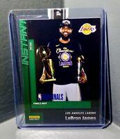 LeBron James 2020 Panini LA Lakers NBA Champions #29 Green Parallel Card 10/10