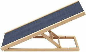 Adjustable Pet Ramp for Dogs and Cats up to 40lb -for Couch or Bed -Made in USA