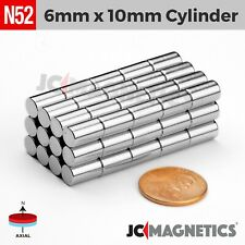 6mm X 10mm 14 X 38 N52 Super Strong Disc Rare Earth Neodymium Magnet 6x10mm
