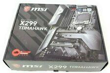 MSI X299 Tomahawk Intel LGA 2066 Quad Ch. DDR4 Lightning USB Motherboard *READ*
