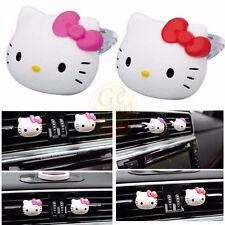 2pcs Hello Kitty Car Auto Air Freshener Auto Perfume Diffuser Fragrance Clip
