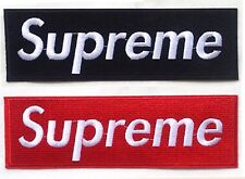 Set of 2 pcs/19*6 cm/Supreme patch/Logo patch/Embroidered patch/iron on patch