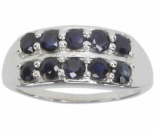 Cocktail Sapphire Round Sterling Silver Fine Rings