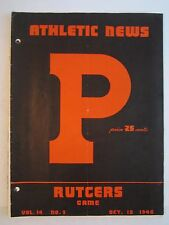 1946 PRINCETON VS RUTGERS COLLEGE FOOTBALL PROGRAM - TUB BN-5