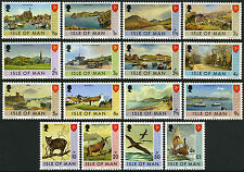 Isle of Man 12-27, MNH. Bailiwick Issues. Landscapes,Views,Cat,Birds,Boat, 1973