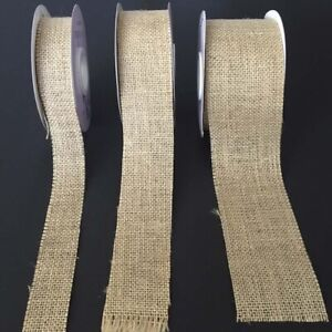 Cut Edge or Wired Edge Burlap Ribbon Hessian Jute Rustic~WEDDINGS~BOWS~DISPLAYS