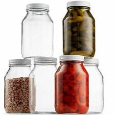 Glass Mason Jars 32 Ounce (1 Quart) Pickling, Preserving, Canning Jar (6 Pack)