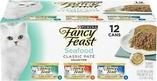 New listing Purina Fancy Feast Grain Free Pate Wet Cat Food Variety Pack, Seafood Classic