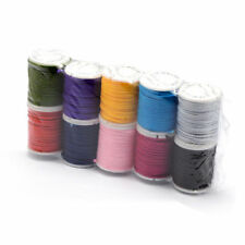 10 Rolls Beading Nylon Threads Round Cords String Mixed Color Spool Wire 2mm DIA