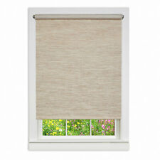 Achim Natural Cordless Fabric Privacy Roller Shade  34 in. W x 72 in. L