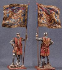 Tin toy soldiers ELITE painted 54 mm German infantryman with the banner, 14th ce
