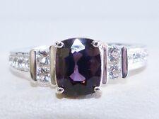 GENUINE, Rare 2.12tcw! Brazilian Purple Spinel & Topaz Ring, Solid S/Silver 925!