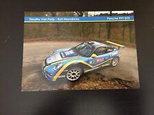 CP POSTCARD CARTOLINA PORSCHE 997 GT3 TIMOTHY VAN PARIJS RALLYE WRC RALLY