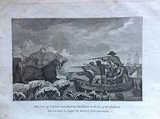 LA FLOTTE DU CAPITAINE CHASSE MORSES MER du NORD acquaforte 1817 Cooke