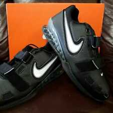 BRAND NEW IN BOX! NIKE ROMALEOS 2 MENS WEIGHTLIFTING SHOES BLACK GREY WHITE 010