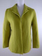 Bloomingdales NOW Women's Yellow Wool Coat, Size 8 P