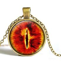 Lord Of The Rings Eye Of Sauron Necklace Pendant UK Seller