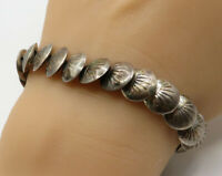 MD 925 Sterling Silver - Vintage Sea Shell Detail Bracelet - B2276