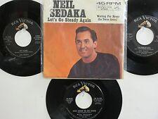 LOT OF 4 ' NEIL SEDAKA ' HIT 45's+1PS [Let's Go Steady Again]] THE 50's&60's!