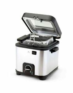 Friggitrice elettrica professionale con cestello di 1.5 Litri da 900W Immersione