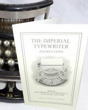 Imperial Typewriter  Instruction Manual Reproduction