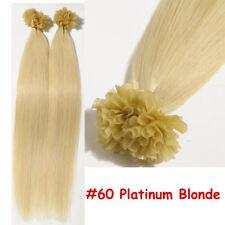 U Nail Tip Pre Bonded Keratin Real Remy Human Hair Extensions Thick 150g US B991