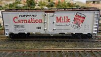 Athearn Vintage HO  Steel Ice Reefer, Carnation, Upgraded Exc