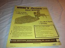 Woods Portable Bale Buster Model B-2 Booklet