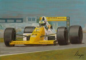 Artimotor - Fine Art Print 33x48 / 1988 Lluis Perez Sala / Minardi M188