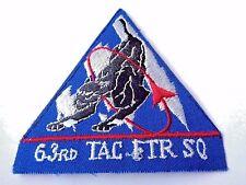 63 RD TAG FTR SQ IRON-ON CLOTH PATCH