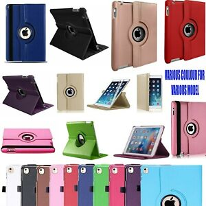 Case Cover For iPad 2/3/4 mini Air 1/2 Leather 360 Degree Rotating Smart Stand
