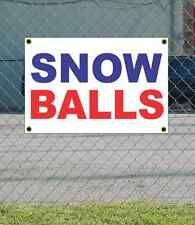 2x3 SNOW BALLS Red White & Blue Banner Sign NEW Discount Size & Price
