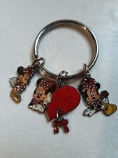 New Disney 3 Charm Minnie Mouse Keychain