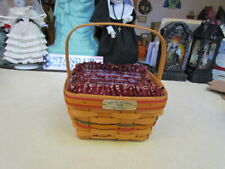 1996 Longaberger Light The Fire Within Bee Basket Combo - Signed!