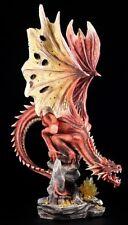 Große rote Drachen Figur - Red Terror - Dragon Statue XXL