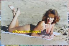 80s Vtg Photo/Hot Sexy Redhead Hair Woman Freckles Laying On Chest At Beach T45