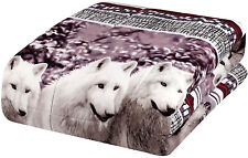 Comforter Set Twin Size Mountain Wolves Soft 3D Box Stiched Microfiber 2 Piece
