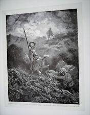 86-7-15 Gravure sur bois 1863 Don Quichotte de Gustave Doré par Pisan