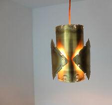 Suspension Brutaliste lampe pendant SVEN AAGE HOLM SØRENSEN Danemark lamp brass