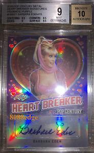 2018 POP CENTURY HEART BREAKER AUTO: BARBARA EDEN #13/15 BGS 9 MINT AUTOGRAPH 10