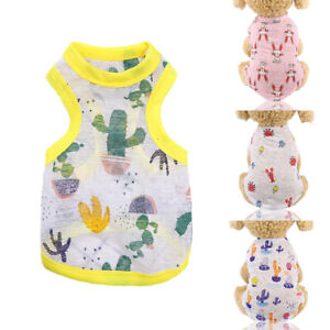 Pets Dogs Puppy Sunscreen T Shirt Vest Summer Breathable Mesh Clothes Outfit