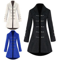 ce98230f1e NEW Womens Retro Gothic Steampunk Coat Tailcoat Vintage Medieval Cosplay  Costume